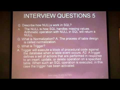 Learn SQL programming/scripting database query language commands introduction youtube video 4/4