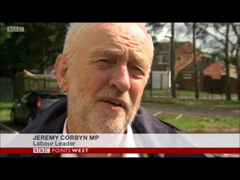 BBC Points West feature Jeremy Corbyn's visit to Swindon