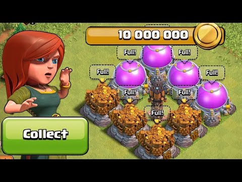 HIGHEST LOOT POSSIBLE IN THE GAME!! (Clash of clans Farming and Pushing Raids)