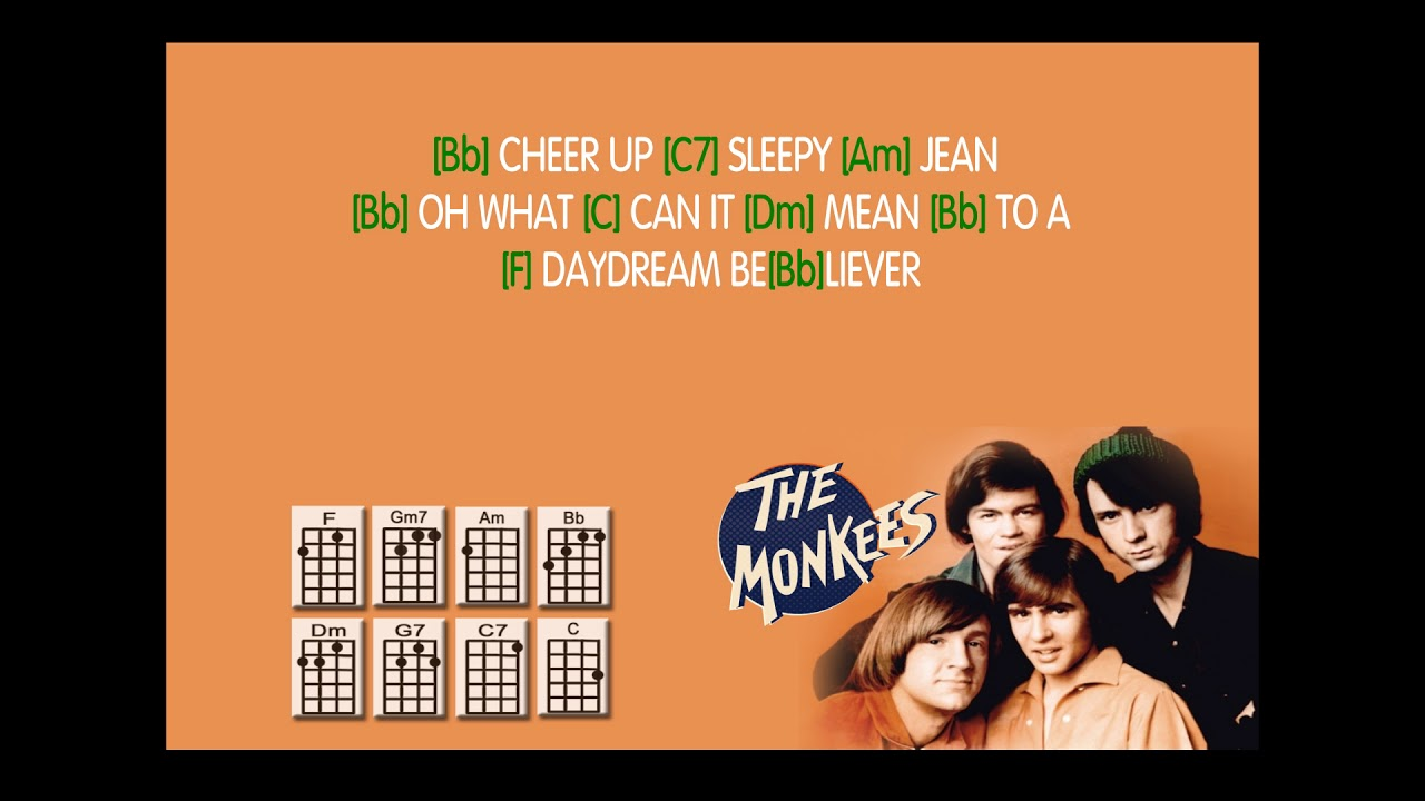 The Monkees Daydream Believerukulele Play Along Weasy