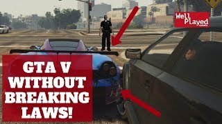 PLAYING GRAND THEFT AUTO WITHOUT BREAKING ANY LAWS (Impossible challenge!)