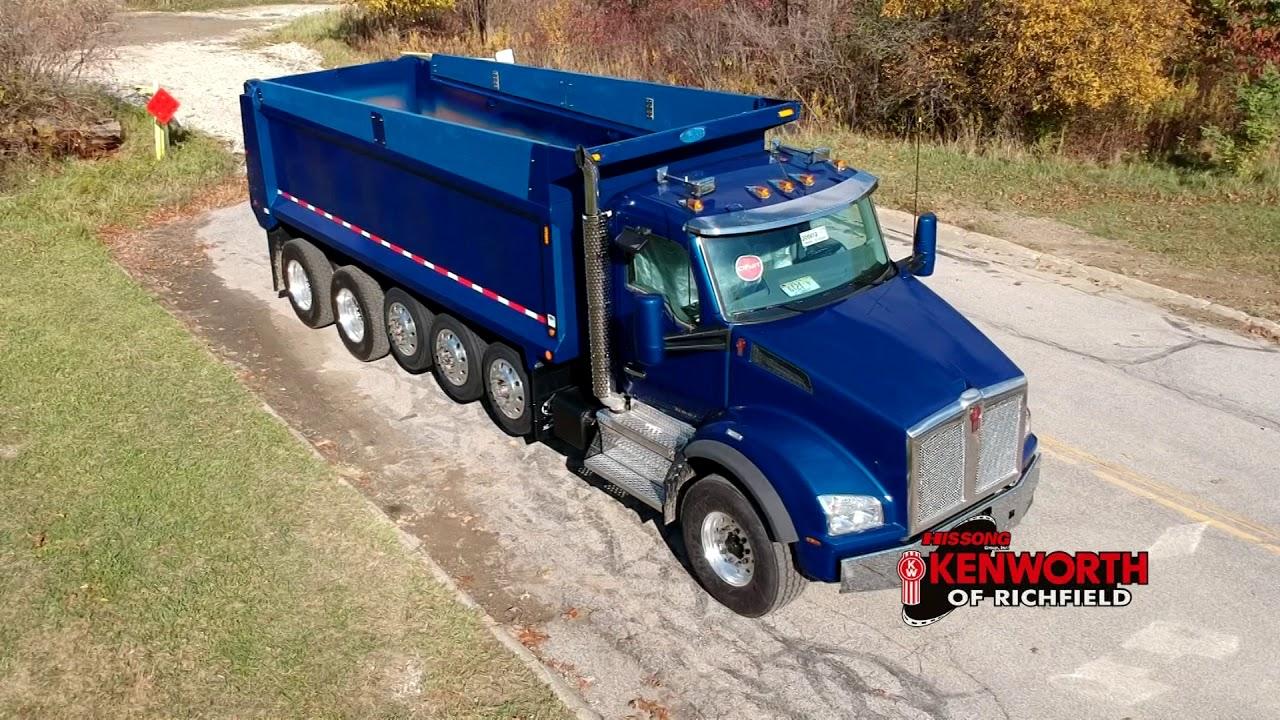 Six Axle Truck : R kenworth t axle dump truck youtube