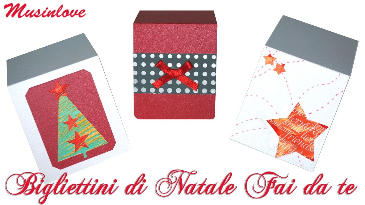 Bigliettini di natale fai da te tutorial musinlove youtube for Panchine fai da te