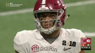 ALL Tua Tagovailoa plays From 2018 National Championship vs. Georgia