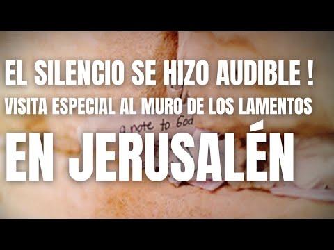 Visita Especial Al Muro De Los Lamentos En Jerusalén - El Silencio Para Unos Y El Sonido Para Otros.