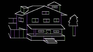 Mystery House (Apple II) Sierra's FIRST adventure game!