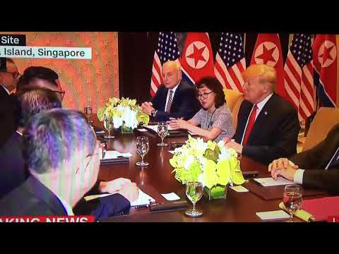 Historic Handshake - Donald Trump & Kim Jong Un (6-11-18, 6-12-18 Singapore)