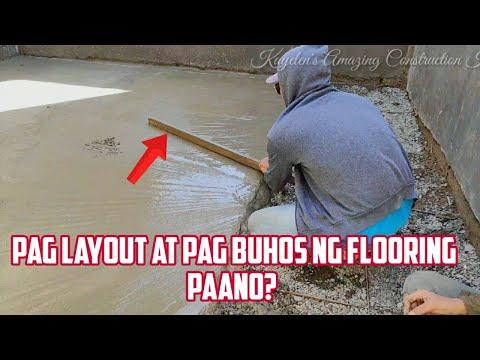 PAANO MAG LAYOUT AT PAG BUHOS NG FLOORING+UPDATE SA PAG GAWA NG BAHAY SA GITNA NG BUKID