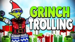 GRINCH DISGUISE TROLLING + NEW UPDATE LEAKS | Super Power Training Simulator (ROBLOX)