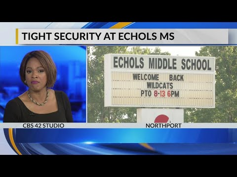 Tight security at Echols Middle school