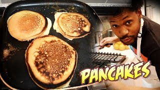 PANCAKE BREAKFAST LIKE YA MOMMA USED TO MAKE | Cooking With Kenshin #6