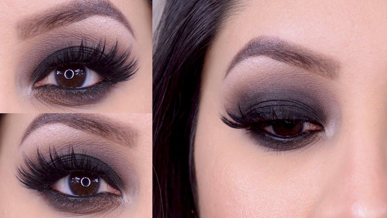 Maquillaje Ojos Ahumados Negro Youtube - Maquillaje-negro