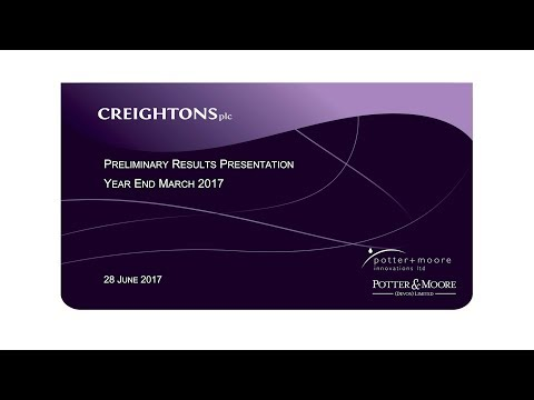 Creightons (CRL) preliminary results YE March 2017 presentation
