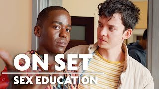 Behind the Scenes of Sex Education with Asa Butterfield  Ncuti Gatwa  On Set