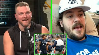Pat McAfee Reacts To Taylor Lewan's HILARIOUS Story About Mike Vrabel