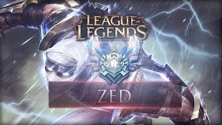 League of Legends - Zed Mid - Full Game : BACK TO THE SHADOWS