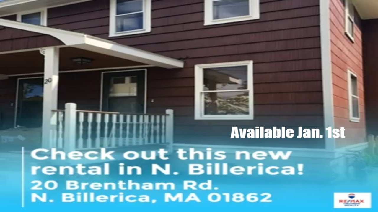 New townhouse rental available in N. Billerica. MA 01862