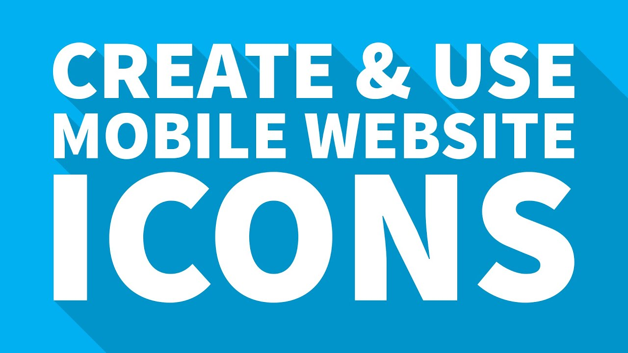 how to create use mobile website icons stan 39 s tech videos youtube. Black Bedroom Furniture Sets. Home Design Ideas