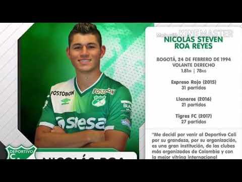 Deportivo Cali presenta su primer refuerzo  Nicolas Roa como nuevo jugador del verde vallecaucano.