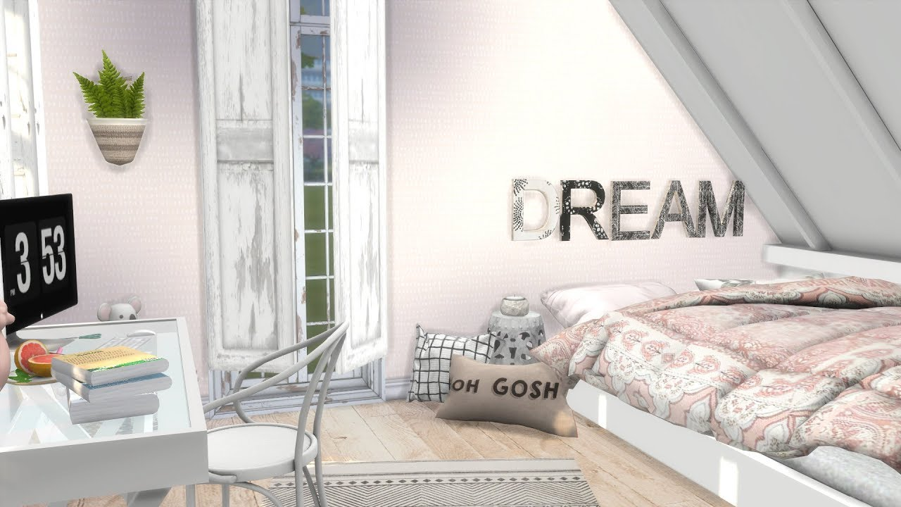 The Sims 4 Speed Build MY DREAM BEDROOM CC LINKS