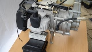 Pocket bike motor Knallgas test