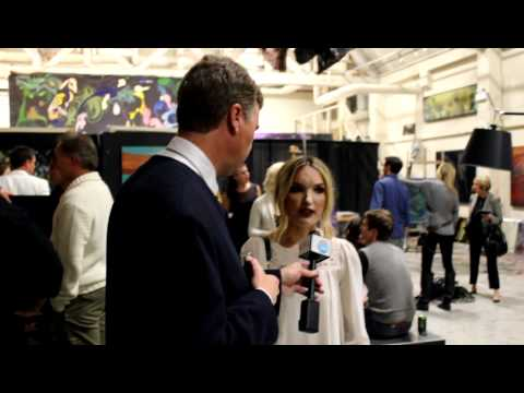 Interview at Vancouver Fashion Week for Xinhua News