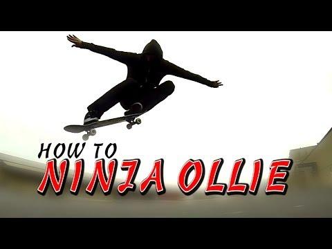 HOW TO NINJA KICK OLLIE THE EASIEST WAY TUTORIAL