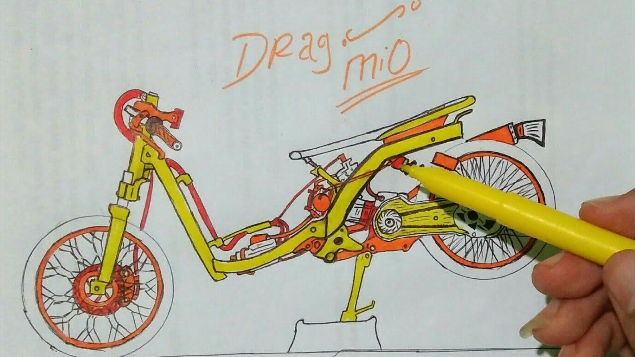 Cara Menggambar Drag Mio Kumpulan Gambar Drag Mio Matic