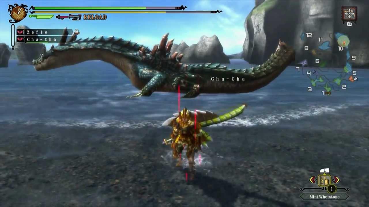 Mh3u Moga Village 4 Star Trial Of The Sea Dragon Urgent Quest