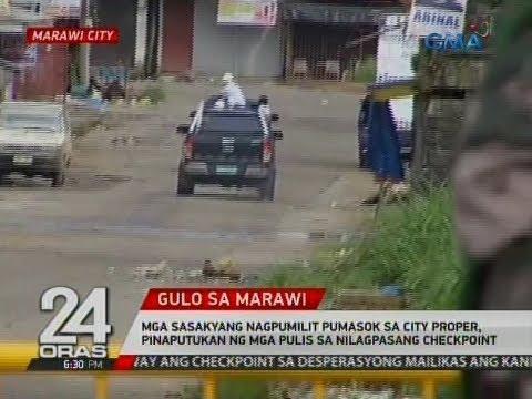 24 Oras: Mga sasakyang nagpumilit pumasok sa city proper, pinaputukan ng mga pulis