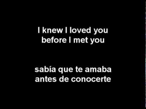 Savage Garden - I Knew I Loved You (Letra En Español)