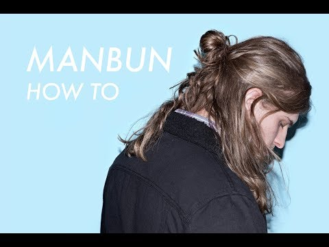 Hairstyles for Men with Long Hair // Man Bun Tutorial // Easy Men's Hair HALF UP HALF DOWN tutorial