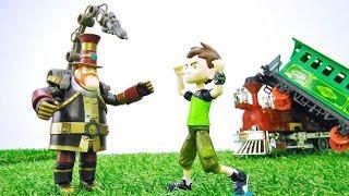 Spielzeug Video für Kinder. Neues Abenteuer von Ben 10