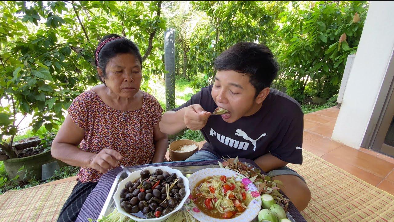 แกงเห็ดเผาะและตำแตง ได้กินข้าวกับแม่อร่อยกว่านี้ไม่มีอีกแล้ว