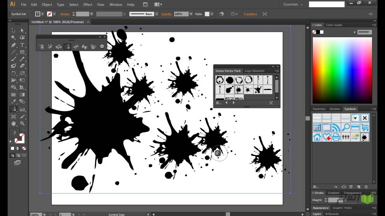 et3alem.com | Illustrator CS6 ..The Symbol Sprayer Tool