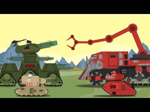 """Битва монстров КВ-45 """"Терминатор"""" и ВарБосс орков. 1-я серия - Мультики про танки"""