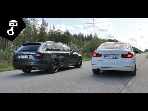 Skoda Octavia VRS (A7) vs BMW 320d (F30) Drag; zhmuraTV