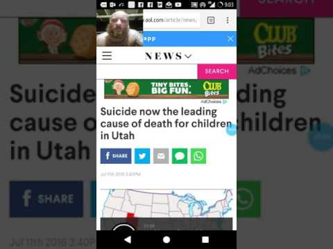 Suicide now the leading cause of death among 10-17 year olds in Utah.