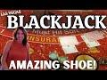 BLACKJACK in LAS VEGAS - AMAZING RUN! Live play at The Plaza Casino Downtown Las Vegas