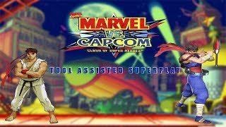 Marvel vs. Capcom: EX Edition - Ryu & Strider Hiryu【TAS】