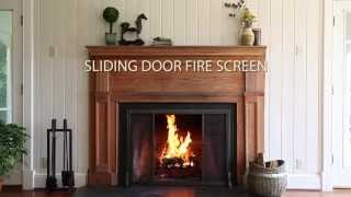 Riveted Fireplace Screen With Sliding Door And Tool Set Sku#13395 - Plow & Hearth