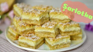 Szarlotka - Polish apple cake with vanilla pudding