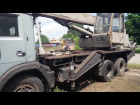 Разсоединение шасси и крановой установки КС 3577 для ремонта,