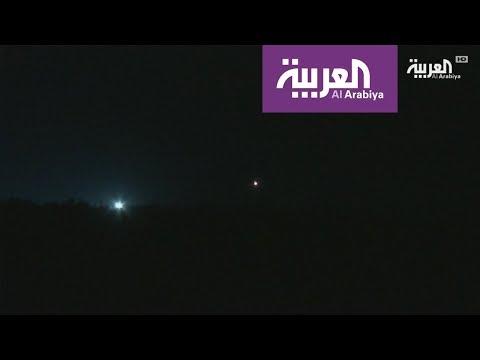 الصور الأولية للغارات الجوية الجارية ضد أهداف في سوريا