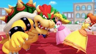Super Mario Party - All Skill Minigames - Mario vs Peach vs Luigi vs Bowser