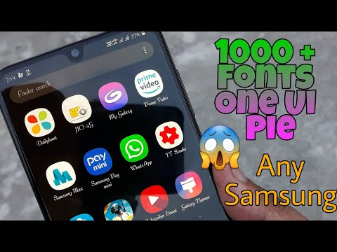 One Ui Pie Fonts Any Samsung Device Galaxy A50,A30,J8,J6 [HINDI]