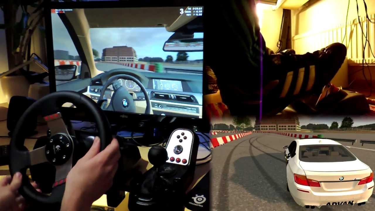 BMW M5 e39 F10 2013 drifting with Logitech G27 simulator