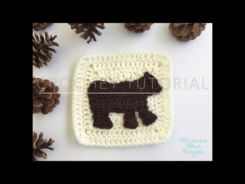 Crochet Woodland Bear - Woodland Afghan Series