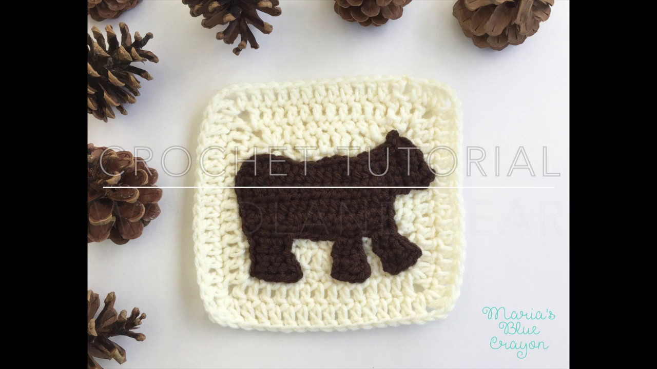 Crochet Woodland Bear Woodland Afghan Series Youtube