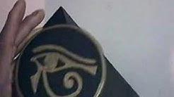 Black Egyptian Pyramid with Eye of Horus